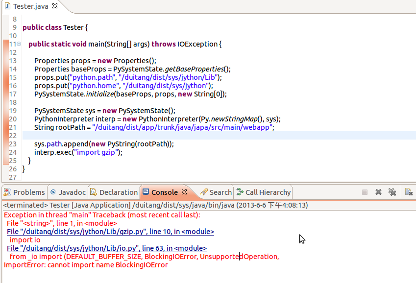 Issue 2059: Jython 2 7a2-cannot import name BlockingIOError